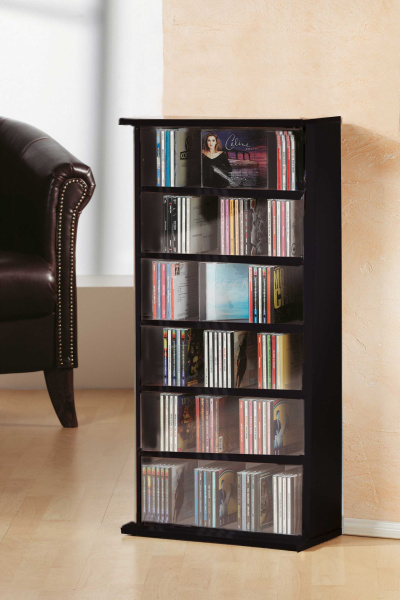 cd m bel vostan schwarz f r 150 cds. Black Bedroom Furniture Sets. Home Design Ideas