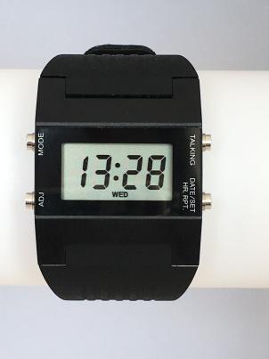 Sprechende LCD Damen-Armbanduhr