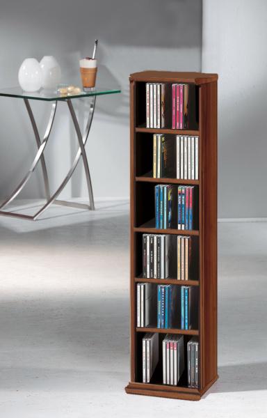 cd regal elementa kern nussbaum f r 102 cds. Black Bedroom Furniture Sets. Home Design Ideas