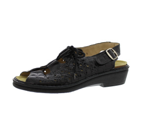 Sandalen aus Lackleder schwarz Größe 37