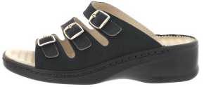Schlappen aus Krokolackleder schwarz Größe 35