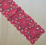Tischläufer rote Blumen 20*110 cm
