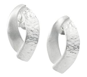 Ohrstecker in modernem Motiv Silber 925/-