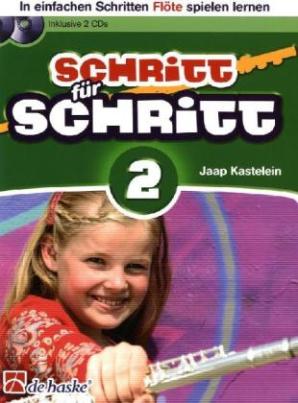 Schritt für Schritt, für Flöte, m. 2 Audio-CDs. Bd.2