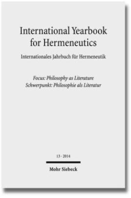 Focus: Philosophy as Literature / Schwerpunkt: Philosophie als Literatur