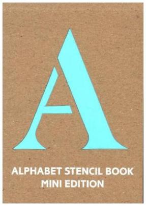 Alphabet Stencil Book Mini (blue)