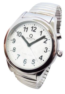 Sprechende Armbanduhr mit Zugband für Herren