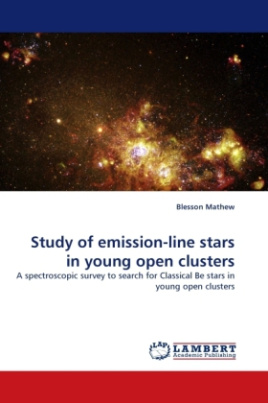 Study of emission-line stars in young open clusters