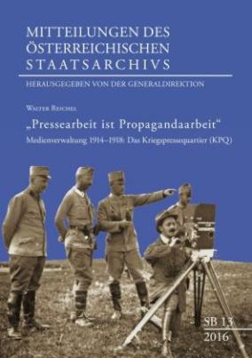"""Pressearbeit ist Propagandaarbeit"""