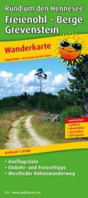 PublicPress Wanderkarte Rund um den Hennesee - Freienohl - Berge - Grevenstein