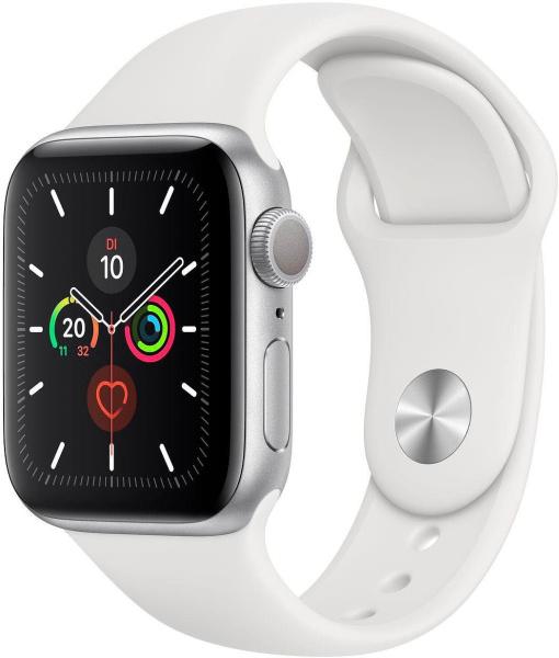 "APPLE Smart Watch ""Watch Series 5"" (GPS, 40 mm, Aluminiumgehäuse, silber/weiß)"