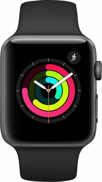 "APPLE Smart Watch ""Watch Series 3"" (GPS, 42 mm Aluminiumgehäuse, Space Gray/Schwarz)"