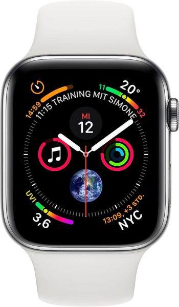 """APPLE Smartwatch """"Series 4"""" (GPS + Cellular, 40mm, Edelstahlgehäuse, Weiß)"""