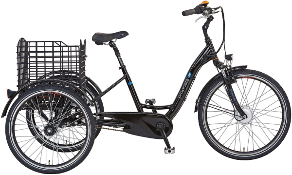 "PROPHETE E-Bike ""Cargo 3R"" (26 Zoll, RH 46, Dreirad, Gepäckträgerkorb, Frontmotor)"
