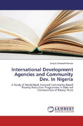 International Development Agencies and Community Dev. In Nigeria