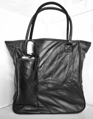 Patchwork-Tasche schwarz