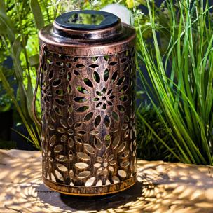 Solar-Laterne bronzefarben