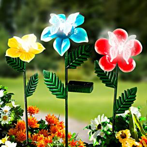 Solar-Blumen, 3er-Set