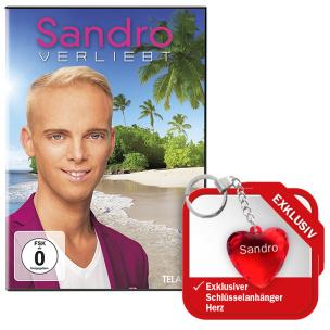 """Verliebt + EXKLUSIVER Schlüsselanhänger Herz """"SANDRO"""""""