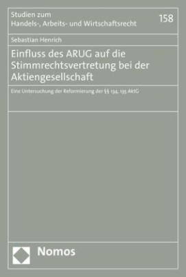 Einfluss des ARUG auf die Stimmrechtsvertretung bei der Aktiengesellschaft