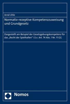 Normativ-rezeptive Kompetenzzuweisung und Grundgesetz