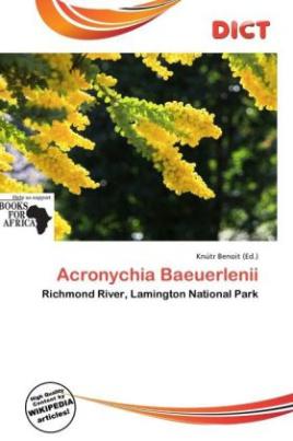 Acronychia Baeuerlenii