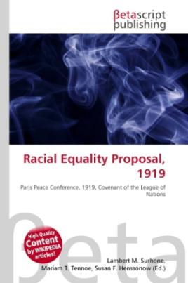 Racial Equality Proposal, 1919