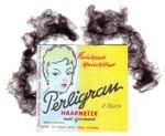2 Perligran-Haarnetze, dunkelbraun
