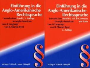 Einführung in die anglo-amerikanische Rechtssprache. Introduction to Anglo-American Law & Language, 2 Vols.