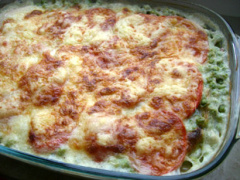 Schinken-Erbsen - Lasagne