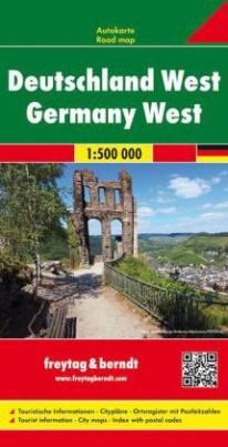 Freytag & Berndt Autokarte Deutschland West 1:500.000. Germany West