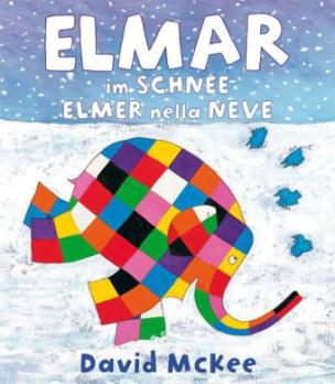 Elmar im Schnee, Deutsch-Italienisch. Elmer nella neve