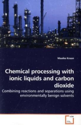 Chemical processing with ionic liquids and carbon dioxide