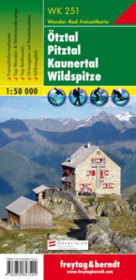 Freytag & Berndt Wander-, Rad- und Freizeitkarte Ötztal, Pitztal, Kaunertal, Wildspitze