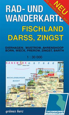 Rad- und Wanderkarte: Fischland, Darss, Zingst (Doppelkarte)