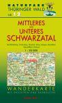 Wanderkarte mit Loipen und Radrouten: Thüringer Wald Nr.12