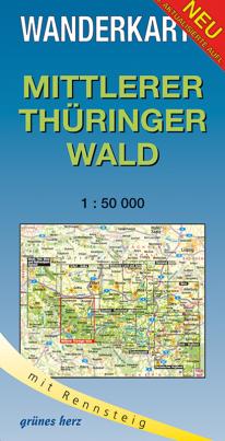Wanderkarte: Mittlerer Thüringer Wald