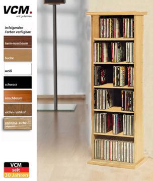 """CD-Regal """"Vostan - kirschbaum"""" für 150 CDs"""
